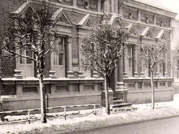 Pierwszy budynek przedszkola przy ulicy Poznańskiej