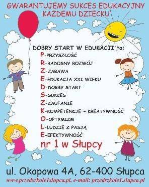 Sukces edukacyjny= Przedszkole nr 1