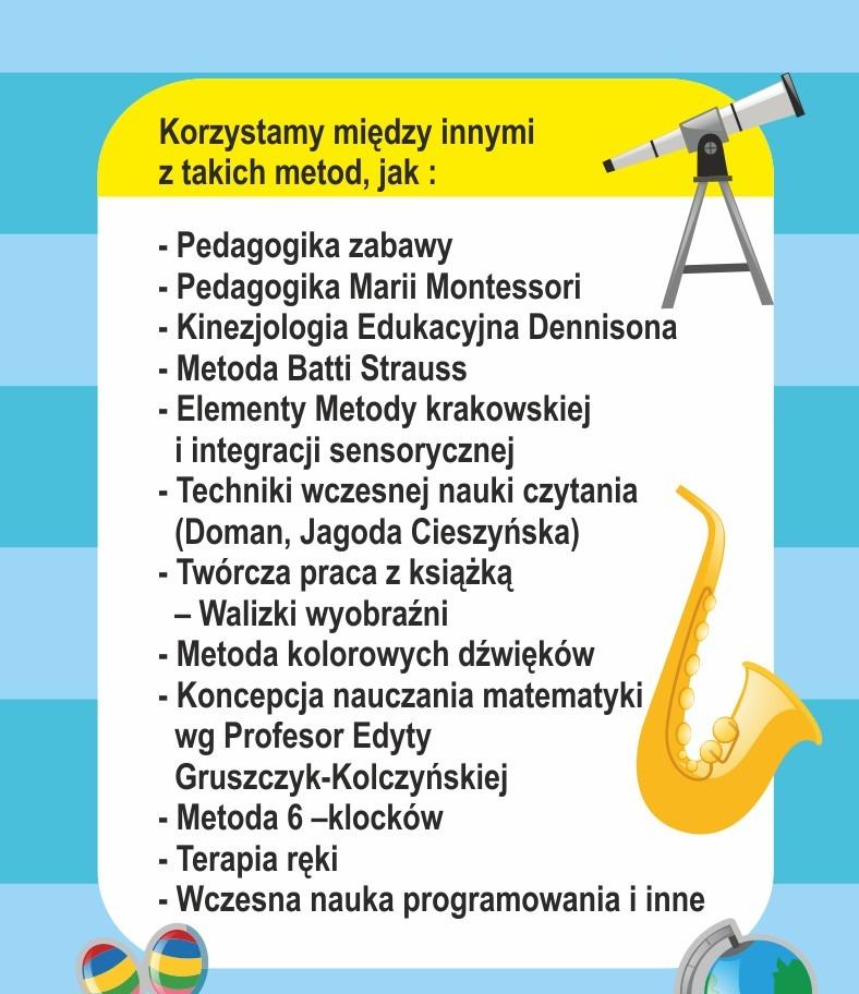 Metody wykorzystywane w przedszkolu